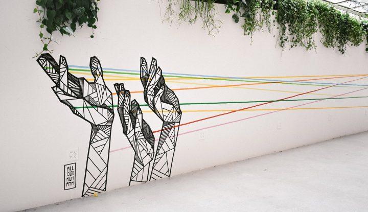 Hands on Wall Mural Alison Kunath