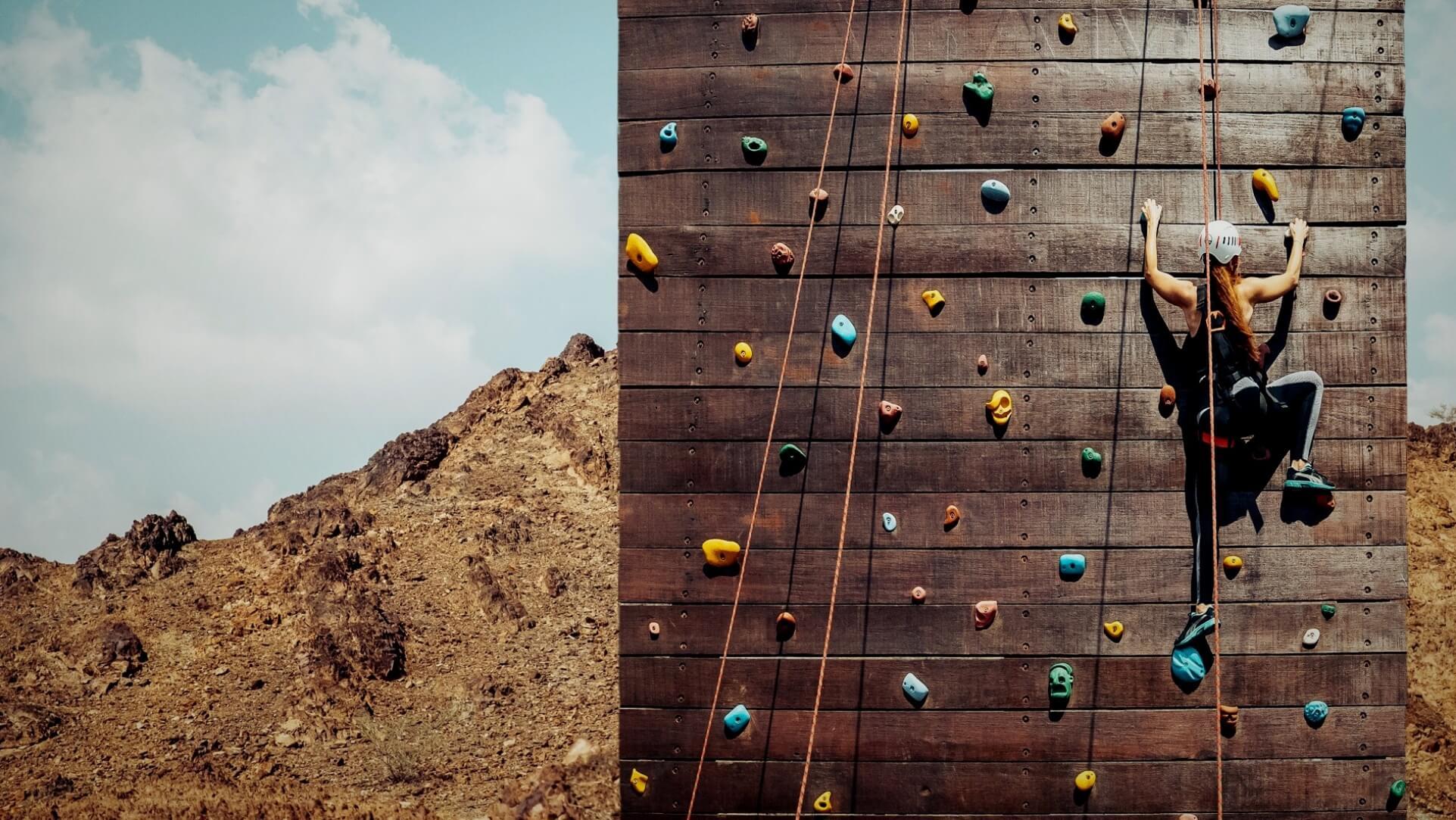 Rock Climbing at JA Hatta Fort Hotel